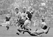 Denis Law scored 30 goals in 55 appearances for Scotland