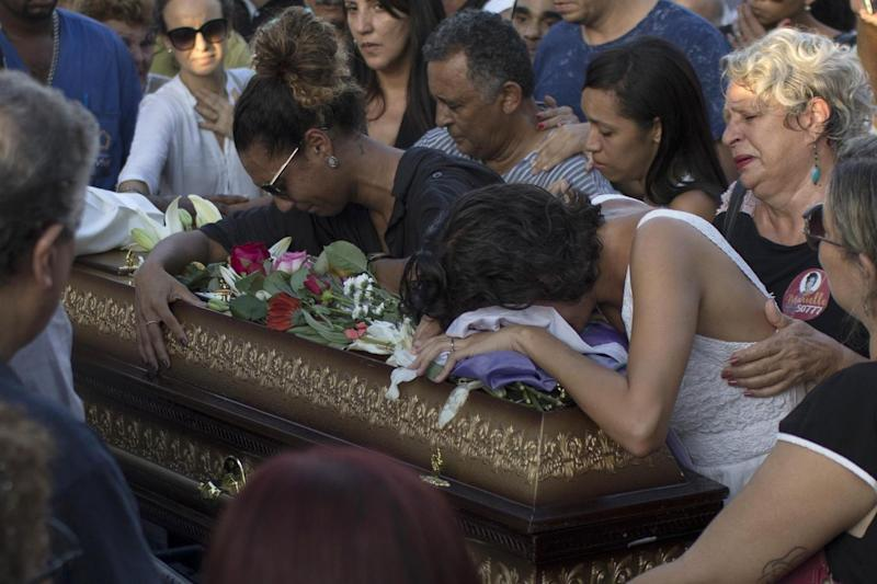 The councilwoman and her driver were killed on Wednesday (AFP)