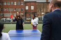 <p>Kate also played some ping pong, teaming up against her husband, Prince William. No word on who emerged victorious. </p>