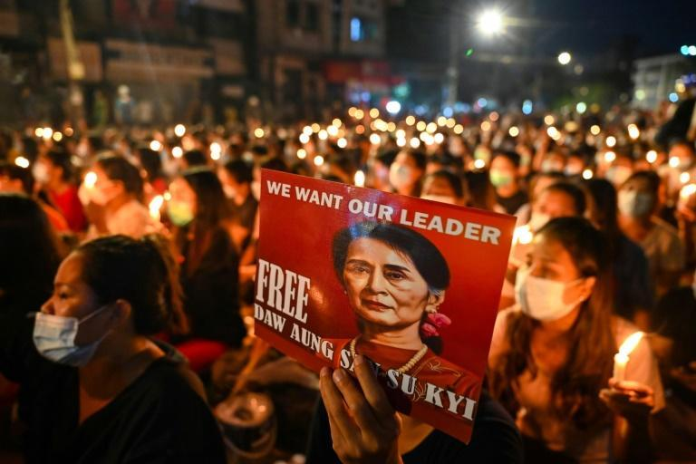 Myanmar's civilian leader Aung San Suu Kyi has been detained since a February 1 coup and faces a litany of charges from the ruling junta