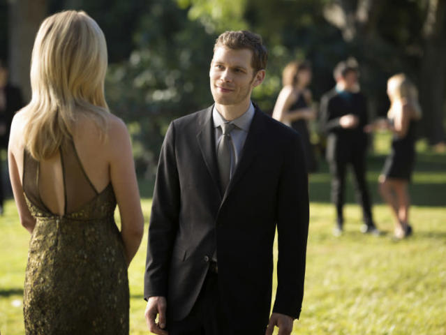 "Candice Accola as Caroline and Joseph Morgan as Klaus in ""My Brother's Keeper,"" the seventh episode of ""The Vampire Diaries"" Season 4."