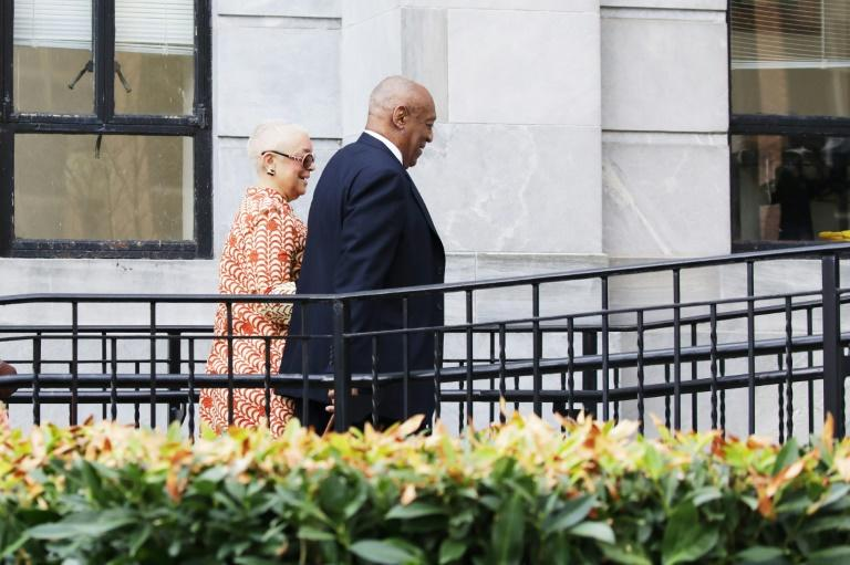 Actor and comedian Bill Cosby and his wife, Camille, arrive for the closing arguments in the retrial of his sexual assault case in Norristown, Pennsylvania