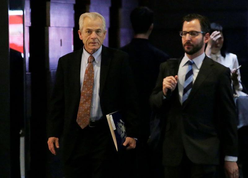 White House trade and manufacturing adviser Peter Navarro a member of the U.S. trade delegation to China leaves a hotel in Beijing