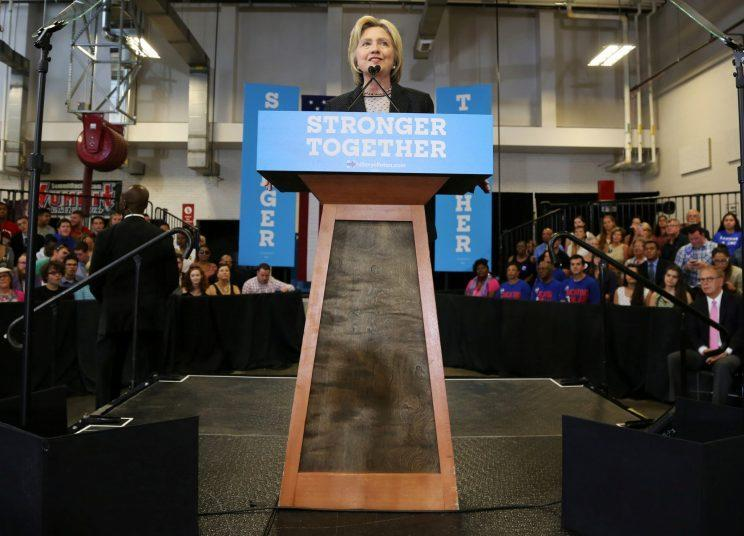 Democratic U.S. presidential candidate Hillary Clinton speaks at a campaign rally in Columbus, Ohio, U.S., June 21, 2016. (Photo: Aaron Josefczyk/Reuters)