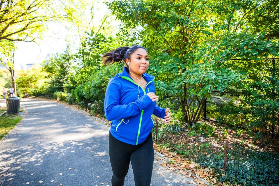 """<p>""""For weight loss, cardio is king,"""" White said, adding that the American College of Sports Medicine (ACSM) recommends <a href=""""https://www.popsugar.com/fitness/How-Much-Cardio-Per-Week-Weight-Loss-44853481"""" class=""""link rapid-noclick-resp"""" rel=""""nofollow noopener"""" target=""""_blank"""" data-ylk=""""slk:300 minutes of cardio training a week"""">300 minutes of cardio training a week</a> for weight loss. """"I would recommend low to moderate continuous exercise,"""" he said.</p> <p>If 300 minutes sounds like a lot, it doesn't have to equal vigorous HIIT training or an intense Spin class. Your cardio workout should be at least continuous cardio at a moderate level reaching 60 to 70 percent of your max heart rate.</p>  <p>You can also break it up throughout the week; instead of an hour at a time, maybe you go for a walk for 30 minutes in the morning and ride your bike for 30 minutes in the evening.</p>"""