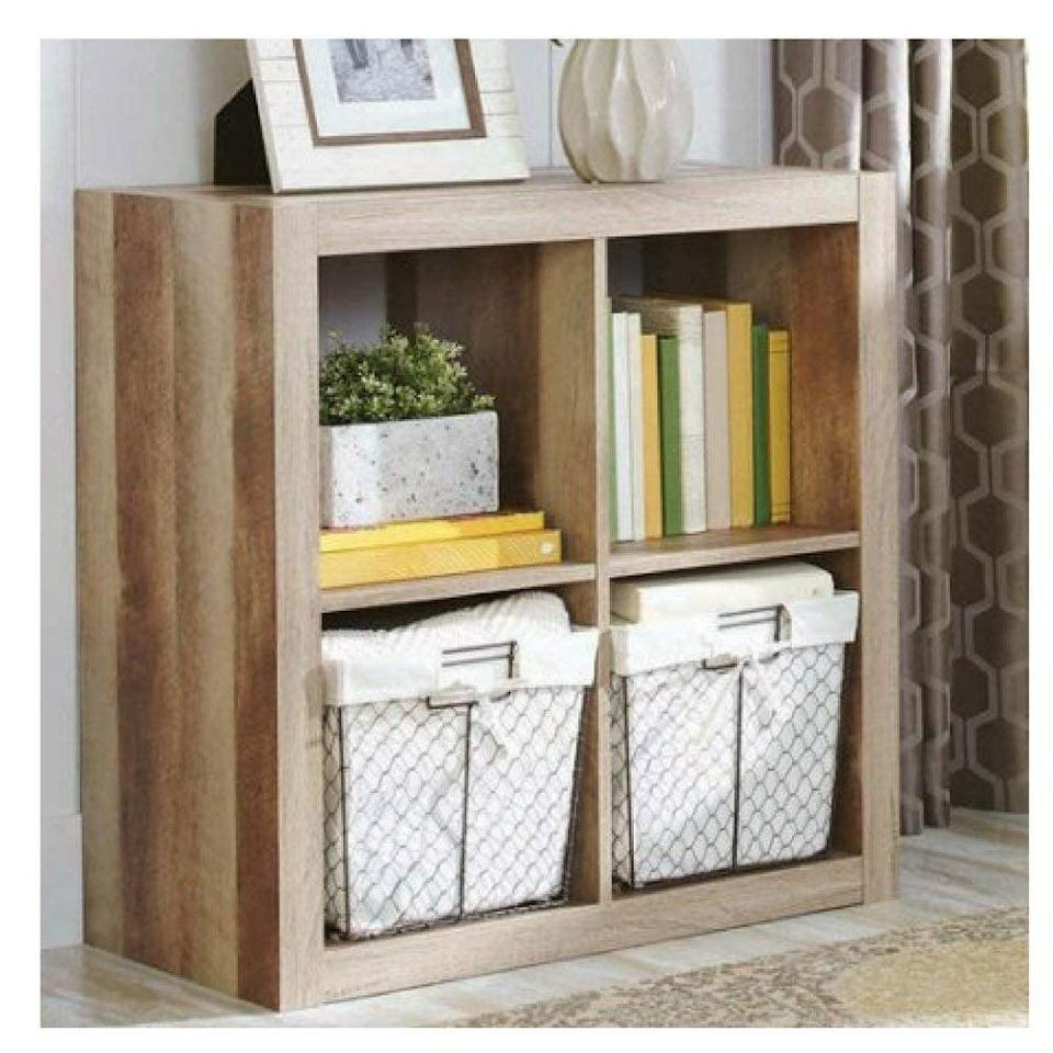 <p>Keep books and paperwork more organized with this <span>Better Homes and Gardens Bookshelf Square Storage Cabinet</span> ($57, originally $60).</p>