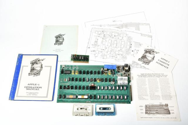"Someone owns a piece of Apple history, a rare ""Celebration"" Apple-1 computer built in 1976 by Steve Jobs and Steve Wozniak. It appears to be a test board, used to confirm everything was working before the primary run."
