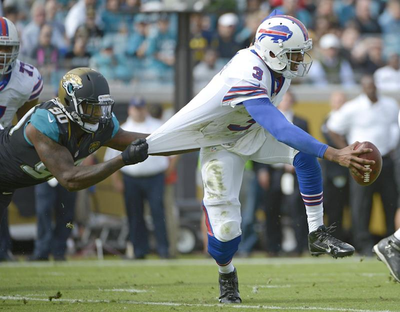 Bills QB Manuel out vs Dolphins with knee swelling
