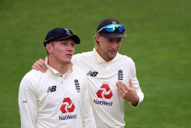 Dom Bess (left) looks set to return after running drinks for the last two Tests.