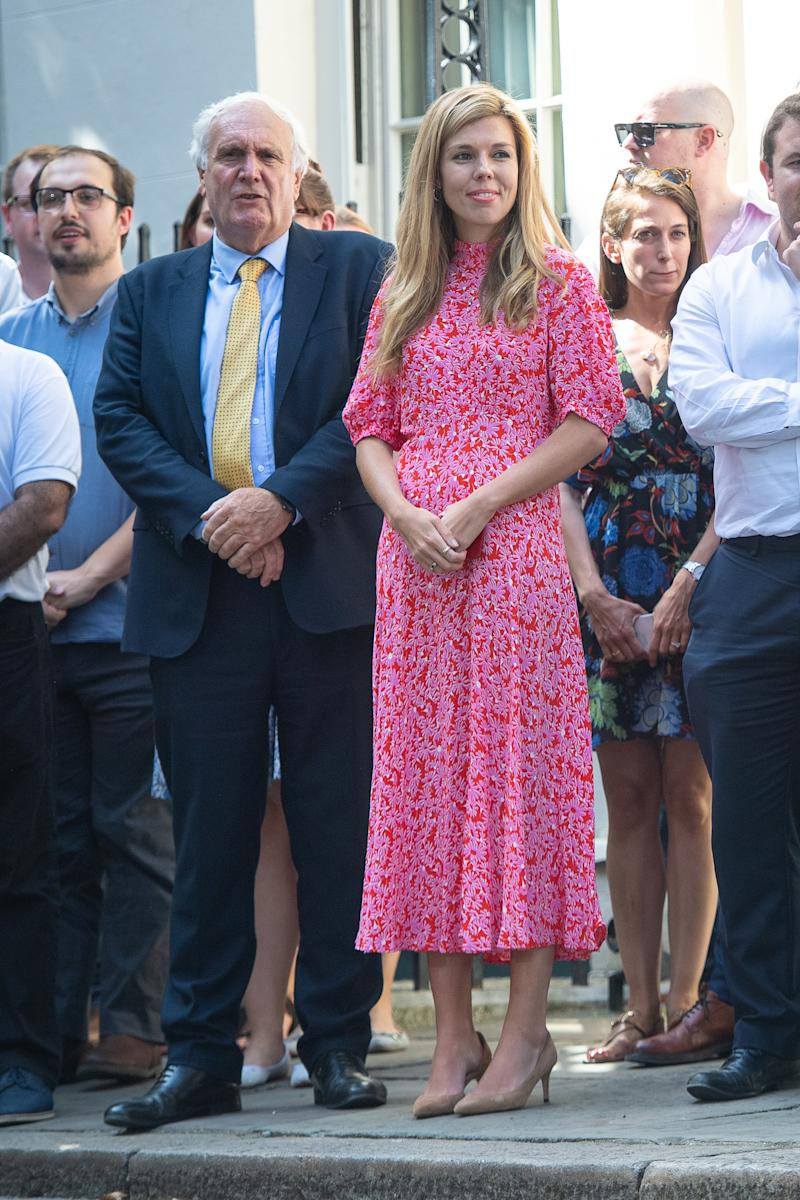 Carrie Symonds wears Ghost dress
