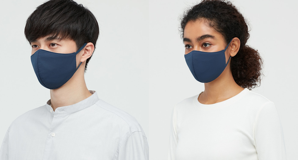 Uniqlo AIRism masks are new and improved. Images via Uniqlo.