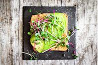 """<p>With more potassium than a banana, avocados are rich in heart-and-waistline healthy monounsaturated fats as well as hunger-suppressing fiber. You're probably already on the avo toast bandwagon. But have you tried <a href=""""https://www.prevention.com/food-nutrition/a20483863/avocado-smoothie-recipes/"""" rel=""""nofollow noopener"""" target=""""_blank"""" data-ylk=""""slk:avo smoothies"""" class=""""link rapid-noclick-resp"""">avo smoothies</a>? </p>"""
