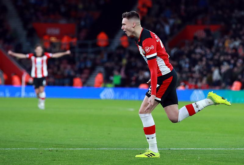 Southampton's Will Smallbone celebrates scoring his side's first goal of the game. (Credit: Getty Images)