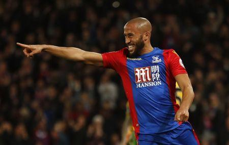 Crystal Palace's Andros Townsend celebrates scoring their first goal