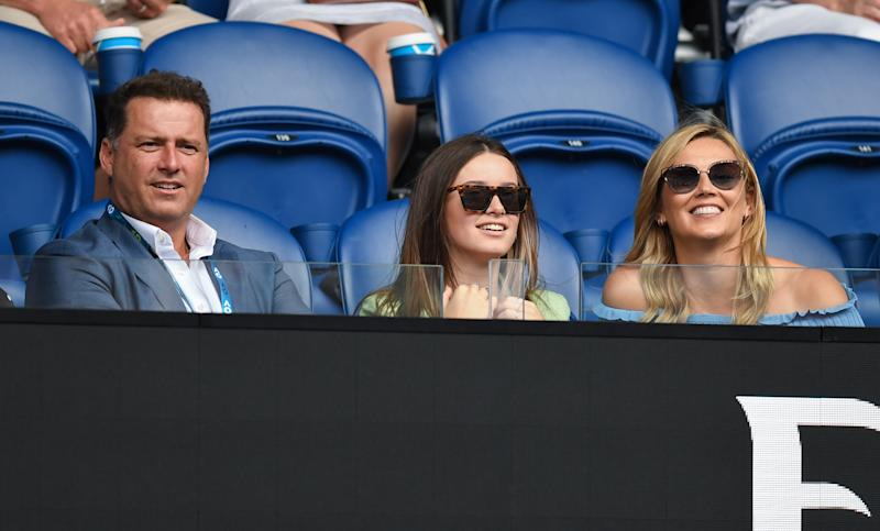 Channel Nine's Today show host Karl Stefanovic attends day three of the 2020 Australian Open at Melbourne Park on January 22, 2020 in Melbourne, Australia.