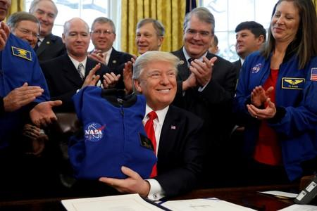 Trump blasts NASA plans for moon return, despite his own policy