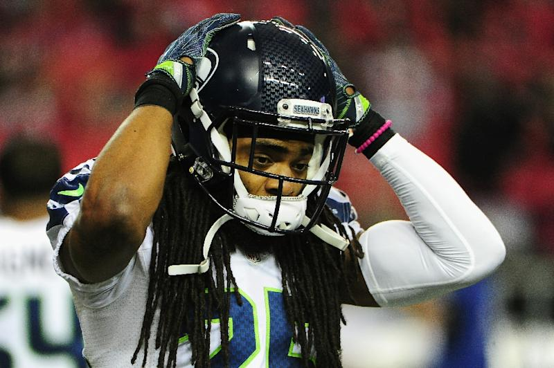 Seahawks defensive star Richard Sherman was troubled by a left knee ligament injury in the second half of the season