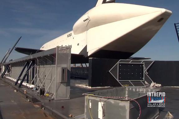 Shuttle Enterprise Being Repaired as Museum Home Reopens Friday