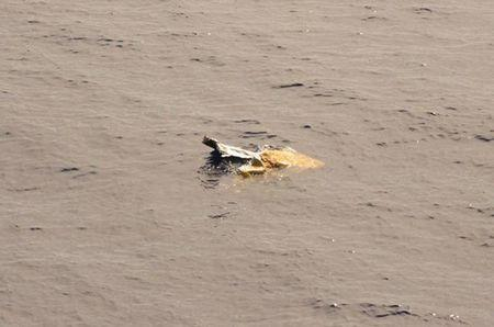 Debris is seen in the water from the El Faro search area in this handout photo provided by the US Coast Guard