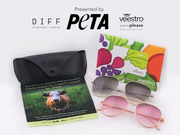 PHOTO: PETA x DIFF Charitable Eyewear x Veestro gift for some of the top Oscars nominees. (Courtesy Distinctive Assets)