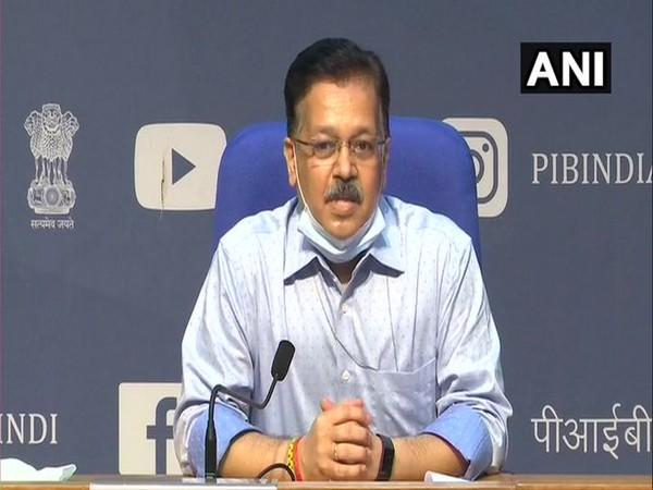 Rajesh Bhushan, Secretary, Union Health Ministry speaking during press conference in New Delhi on Tuesday. Photo/ANI