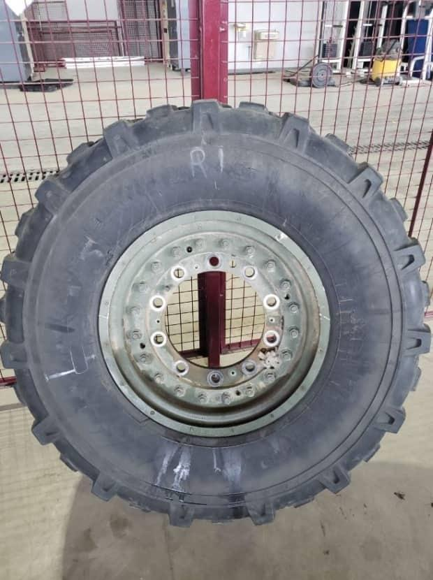 Six tires for a light armoured vehicle were stolen last month.