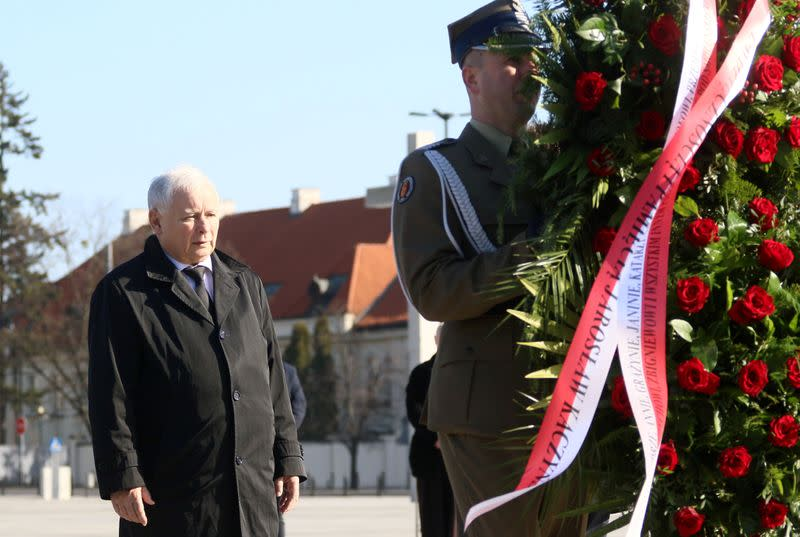 The tenth anniversary of the crash of the Polish government plane in Smolensk,