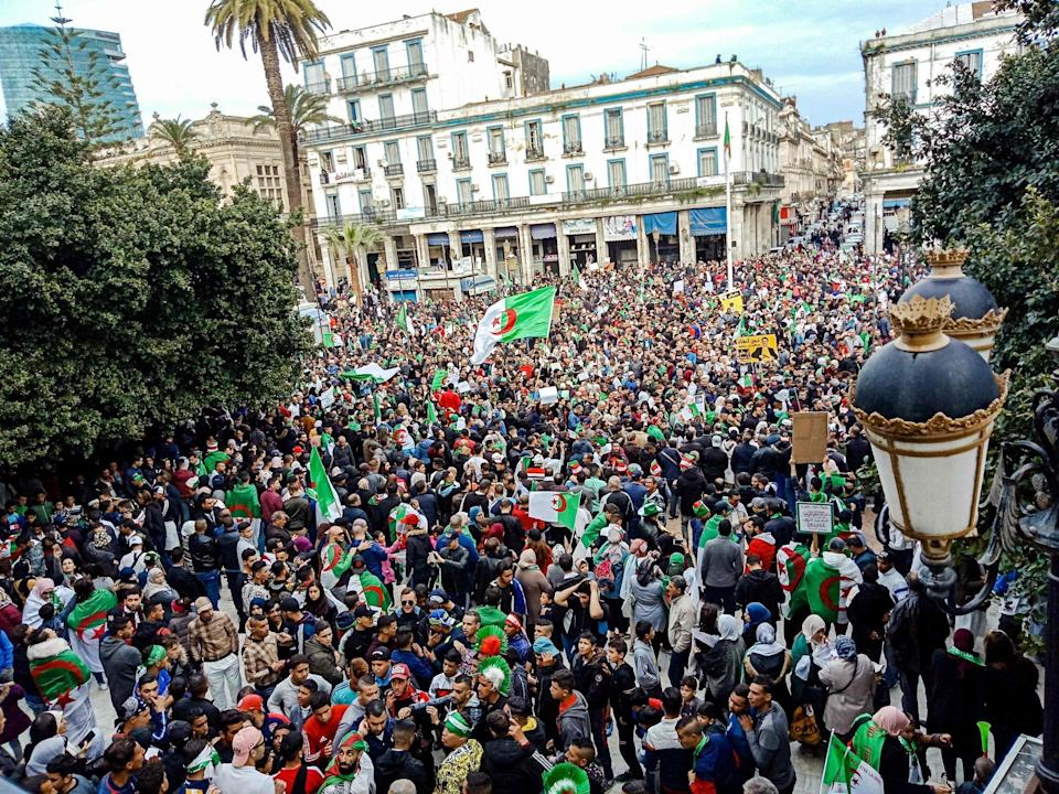 Algerians take to streets in protest against cuts and ailing, 'out of touch' president