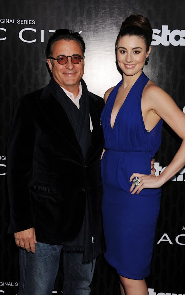 """Andy Garcia and Dominik Garcia-Lorido attend the Starz '<a target=""""_blank"""" href=""""http://tv.yahoo.com/magic-city/show/46996"""">Magic City</a>' Los Angeles Series Premiere at Directors Guild Of America on March 20, 2012 in Los Angeles, California."""