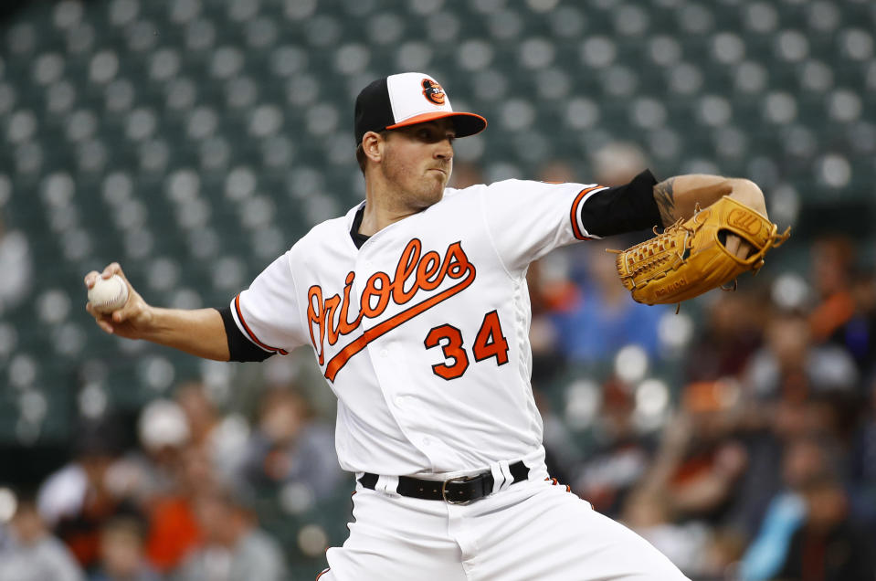 Kevin Gausman tossed an immaculate inning Monday night. (AP Photo)