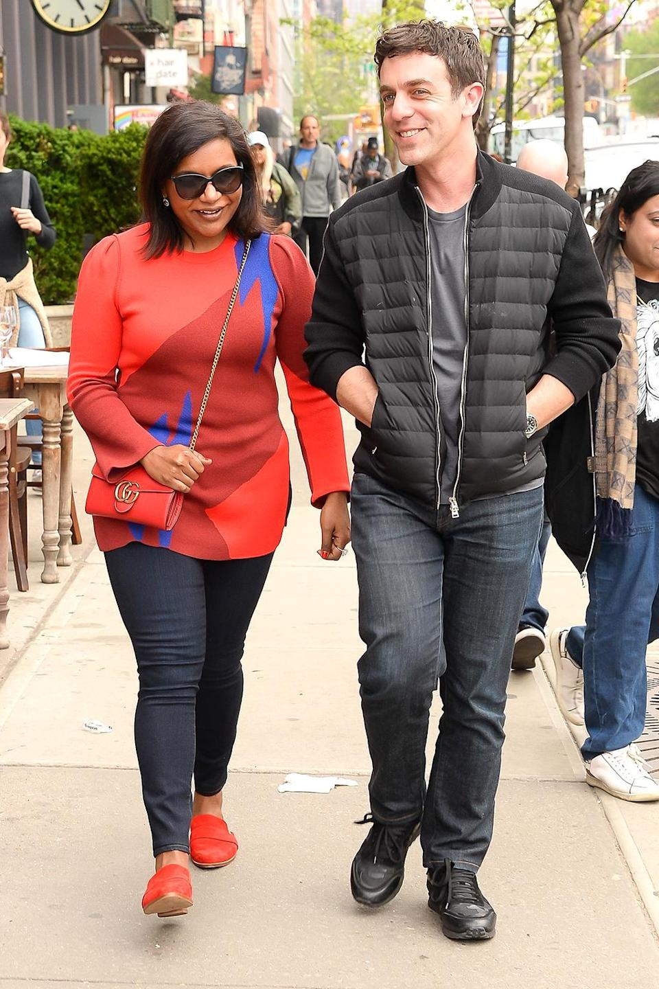 """<p>The friendly exes and former co-stars of <i>The Office</i> met for lunch in the Big Apple. Kaling had better get her lunches with friends in while she can, since she just added <a rel=""""nofollow noopener"""" href=""""http://deadline.com/2017/04/mindy-kaling-3-arts-alyssa-mastromonaco-white-house-memoir-who-thought-this-was-a-good-idea-tv-series-1202078049/"""" target=""""_blank"""" data-ylk=""""slk:a TV series based on a former staffer in the Obama White House"""" class=""""link rapid-noclick-resp"""">a TV series based on a former staffer in the Obama White House</a> to her long list of projects in the works. (Photo: PapGossip.com/AKM-GSI) </p>"""