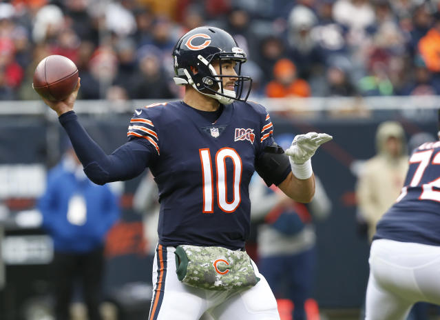 The Chicago Bears were not unanimous in their support of QB Mitchell Trubisky before making him the No. 2 overall pick in the 2017 NFL draft. (Photo by Nuccio DiNuzzo/Getty Images)