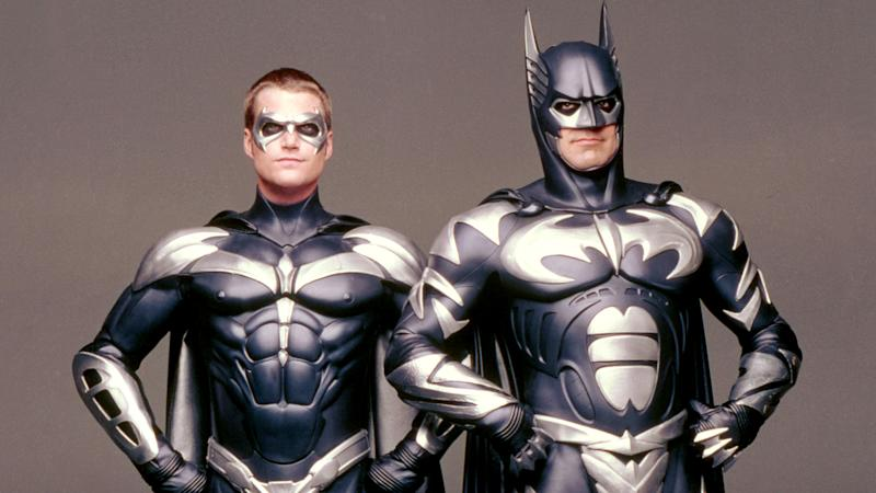 Chris O'Donnell and George Clooney in 'Batman & Robin'. (Credit: Warner Bros)