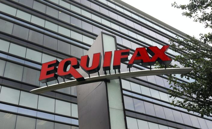"""<span class=""""caption"""">Credit bureau Equifax announced in 2017 that the personal information of 143 million Americans – about three-quarters of all adults – had been exposed in a major data breach.</span> <span class=""""attribution""""><a class=""""link rapid-noclick-resp"""" href=""""https://newsroom.ap.org/detail/CongressEquifaxDataBreach/5911edac571e40b48f562110ebfbc782/photo"""" rel=""""nofollow noopener"""" target=""""_blank"""" data-ylk=""""slk:AP Photo/Mike Stewart"""">AP Photo/Mike Stewart</a></span>"""