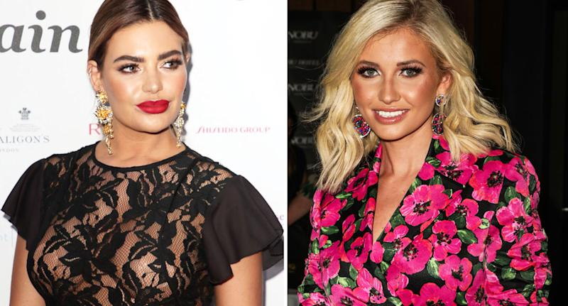 Megan Barton-Hanson, from last year's season of Love Island (left) and Amy Hart from this year's season have both admitted to undergoing cosmetic surgery. [Photo: Getty]