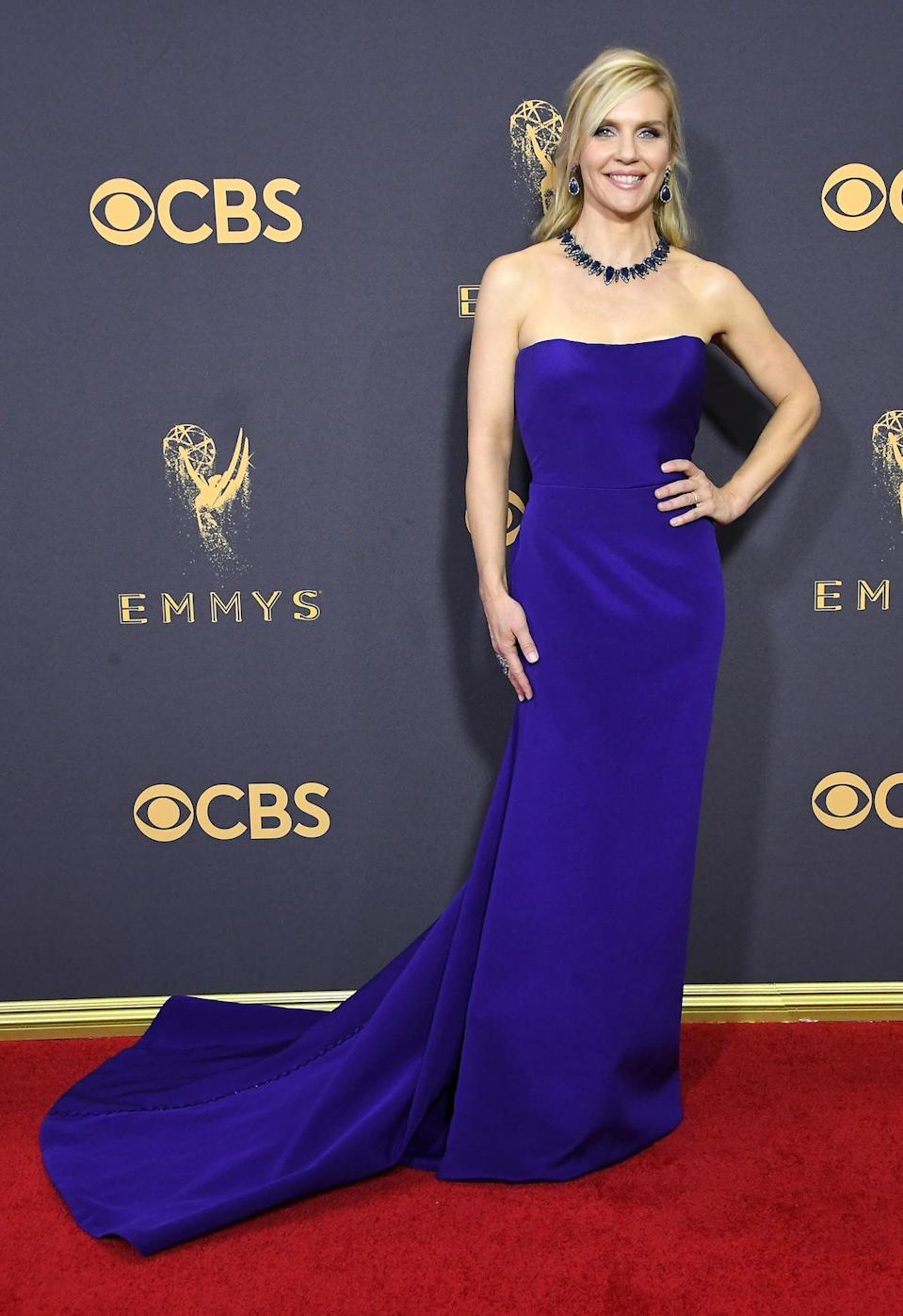 <p>Rhea Seehorn attends the 69th Primetime Emmy Awards on Sept. 17, 2017.<br> (Photo: Getty Images) </p>