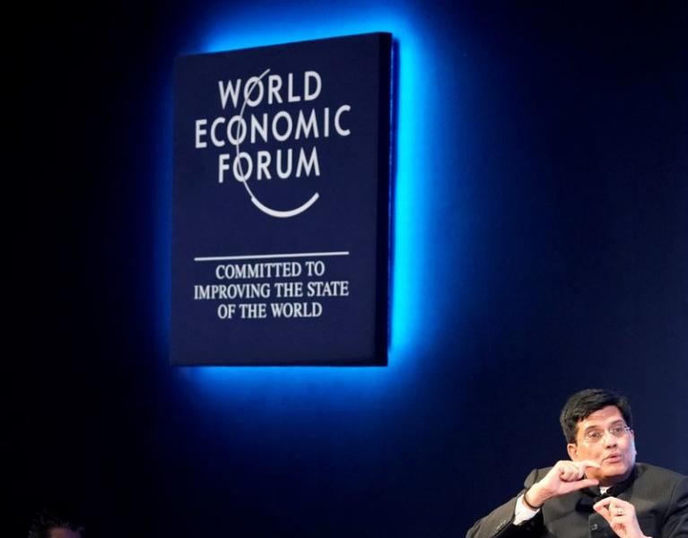 Piyush Goyal, Minister of Railways and Coal of India, attends the World Economic Forum (WEF) annual meeting in Davos