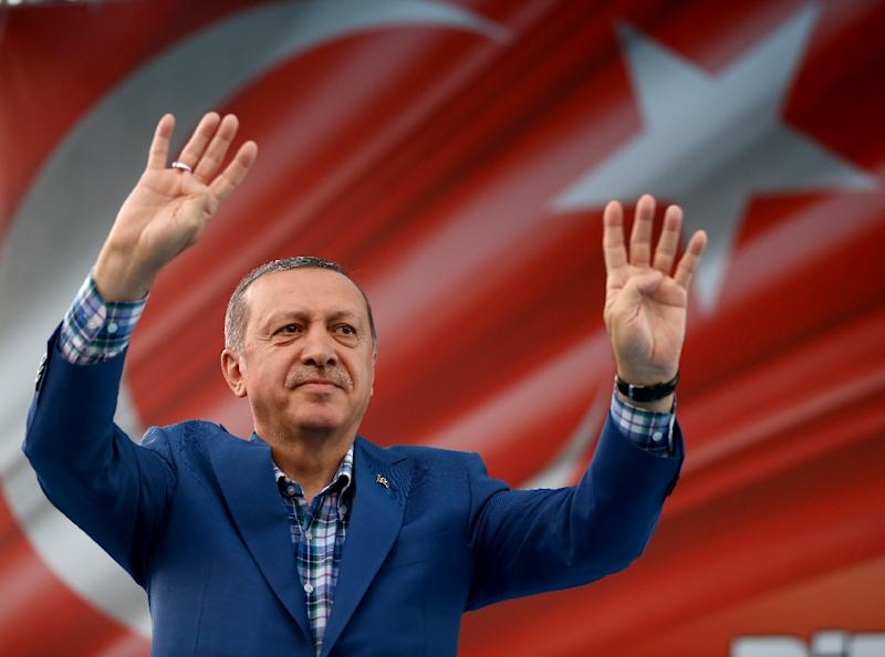Turkish President Recep Tayyip Erdogan has imposed a state of emergency after a failed military coup against him on July 15, 2016 (AFP Photo/Yasin Bulbul)