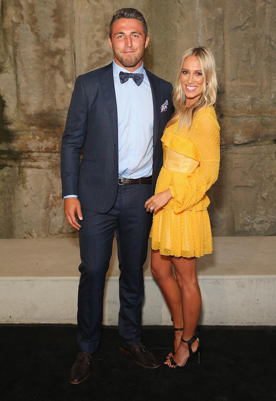 Sam and now-estranged wife Phoebe Burgess attend an event together in 2016.