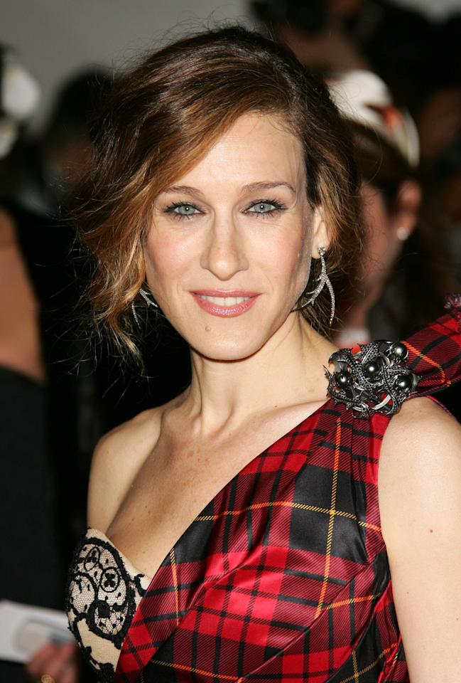 <p>Sarah Jessica Parker attends the Metropolitan Museum of Art Costume Institute Benefit Gala: Anglomania at the Metropolitan Museum of Art on May 1, 2006.</p>