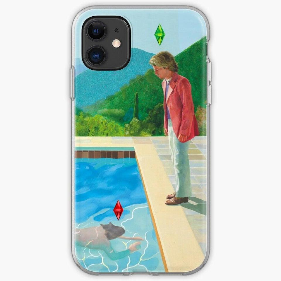 "<h2>David Hockney Sims Phone Case<br></h2><br>A custom-print phone case that remixes fine art with video games, answering the eternal question, ""What if painter David Hockney played the Sims?""<br><br><strong>Narva</strong> David Hockney Sims iPhone Case, $, available at <a href=""https://go.skimresources.com/?id=30283X879131&url=https%3A%2F%2Fwww.redbubble.com%2Fi%2Fiphone-case%2FDavid-Hockney-Sims-remake-by-Narva%2F51435330.PM7U2"" rel=""nofollow noopener"" target=""_blank"" data-ylk=""slk:Redbubble"" class=""link rapid-noclick-resp"">Redbubble</a>"