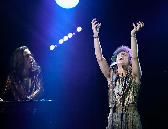 Today's rock band of the moment Greta Van Fleet -- a Michigan group that nabbed a Best New Artist nomination at the 2019 Grammys -- has been widely panned by critics as Led Zeppelin copycats (AFP Photo/Timothy Norris)
