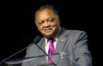 Civil rights activist Reverend Jesse Jackson addresses the audience during the Presidential candidate forum at the annual convention of the National Association for the Advancement of Colored People (NAACP), in Detroit