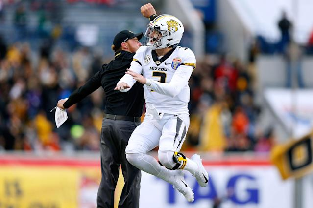 Drew Lock is one of nine quarterbacks at Senior Bowl trying to get a leg up on the NFL draft class of 2019. (Getty Images)