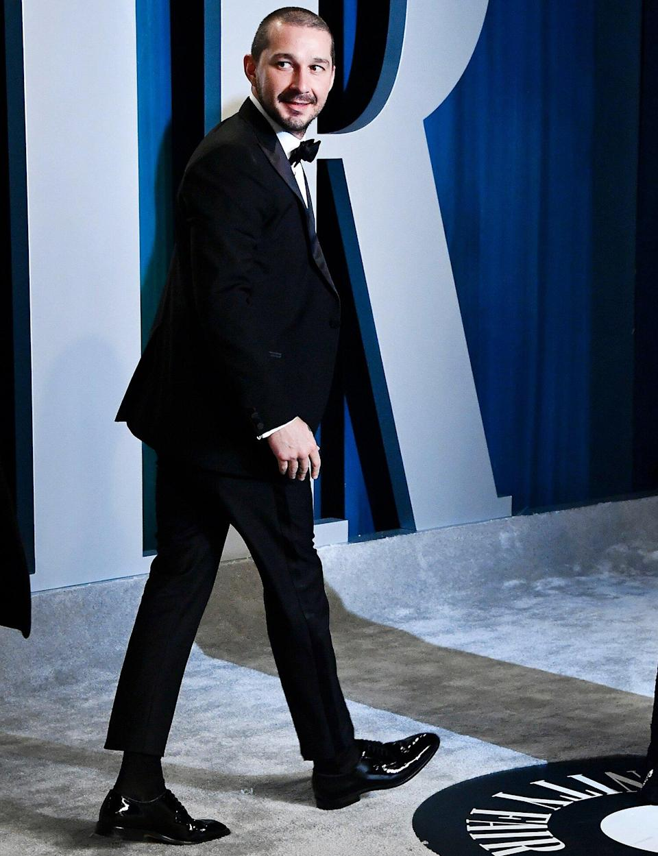 Shia LaBeouf attends the 2020 Vanity Fair Oscar Party hosted by Radhika Jones at Wallis Annenberg Center for the Performing Arts on February 09, 2020 in Beverly Hills, California.