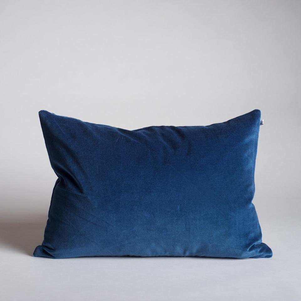 """<p><strong></strong></p><p>burkelman.com</p><p><strong>$88.00</strong></p><p><a href=""""https://burkelman.com/products/washed-velvet-pillow-atlantic#14%20x%2020"""" target=""""_blank"""">Shop Now</a></p><p>Just because we love a good decorative pillow, we're offering a second option. The Burkelman brand just launched a new line of Washed Velvet pillows in a bunch of different colors, including Atlantic blue, which is Pantone's color of the year. They're so comfy...you'll want one for every piece of furniture in the house.</p>"""