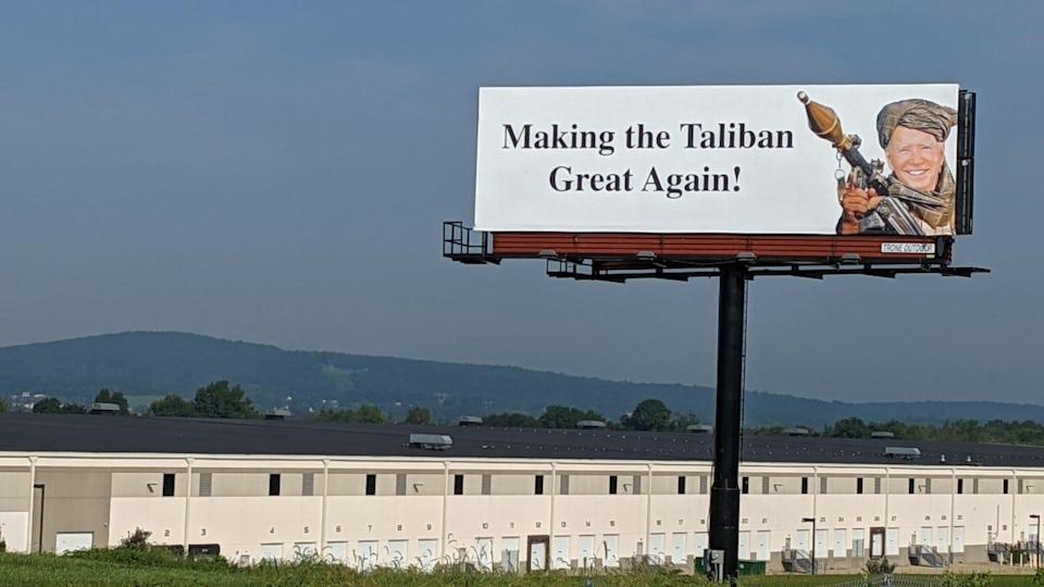 Former Republican State Sen. Scott Wagner rented out this billboard to express his displeasure with the Biden Administration's handling of the withdrawal from Afghanistan.
