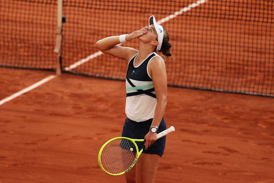 Krejcikova fought well in the semi-final to reach her maiden Grand Slam final (Getty Images)