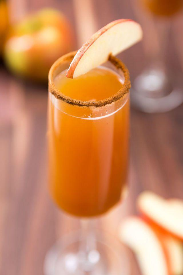 """<p>Welcome guests with a brunch classic with a Thanksgiving twist, because bubbles are always the right answer. </p><p><em><a href=""""https://www.delish.com/cooking/recipe-ideas/recipes/a46963/apple-cider-mimosas-recipe/"""" rel=""""nofollow noopener"""" target=""""_blank"""" data-ylk=""""slk:Get the recipe at Delish"""" class=""""link rapid-noclick-resp"""">Get the recipe at Delish</a></em></p>"""