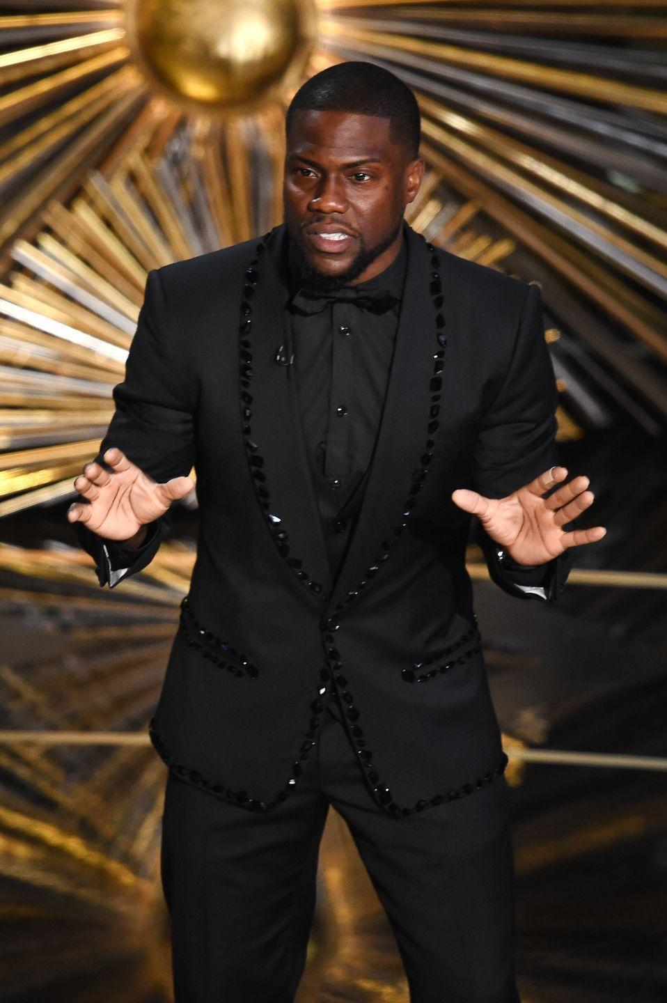 """<p>Comedian Kevin Hart was named host of the 91st annual award show on December 4, 2018. Just two days later, however, a handful of homophobic tweets that Kevin had shared in the late 2000s were resurfaced, and the Academy demanded that he apologize for his past hurtful words. Although he declined to say """"sorry"""" at first, Kevin ultimately ended up issuing a formal apology and <a href=""""https://www.cosmopolitan.com/entertainment/a25799856/kevin-hart-oscars-controversy-explained/"""" rel=""""nofollow noopener"""" target=""""_blank"""" data-ylk=""""slk:stepping down from the hosting gig"""" class=""""link rapid-noclick-resp"""">stepping down from the hosting gig</a> altogether. No one was chosen to replace him, and the 2019 Oscars went host-less. </p><p><strong>RELATED: </strong><a href=""""https://www.goodhousekeeping.com/life/entertainment/g26343721/oscars-host-controversial/"""" rel=""""nofollow noopener"""" target=""""_blank"""" data-ylk=""""slk:The Most Controversial Oscars Hosts From the Last 10 Years"""" class=""""link rapid-noclick-resp"""">The Most Controversial Oscars Hosts From the Last 10 Years</a></p>"""